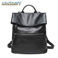 2019 Leather Backpacks Women Schoolbags For Teenagers Girls Black Travel Shoulder Bag Waterproof Backapck Mochila Feminina CY 71
