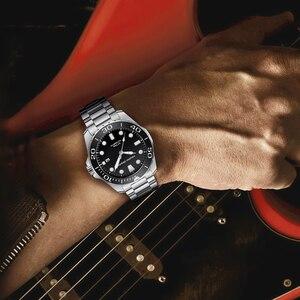 Image 5 - Pagani 기계식 자동 남성 시계 스포츠 블랙 패션 군사 방수 시계 남자 스틸 남성 손목 시계 relogio masculino