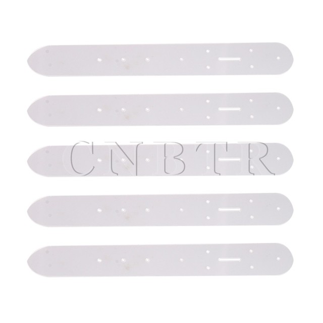 CNBTR 275x4x01cm PVC White Belt Hole Punch Template Board For Leather Saddle
