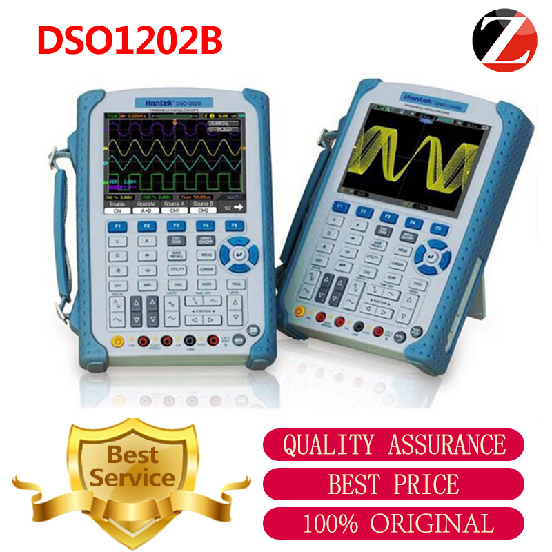 Hantek Oscilloscope DSO1202B 2 Channel 1GSa/s Digital Handheld DSO1202B 5.6 Inch TFT Color LCD Display High Band Width <font><b>200</b></font> <font><b>MHz</b></font> image