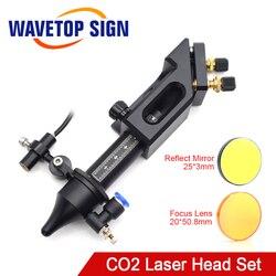 Trasporto Libero WaveTopSign Co2 Laser Testa per Lente di Messa A Fuoco D20mm F50.8 Riflettere Specchio 25 millimetri per L'incisione del Laser Macchina di Taglio