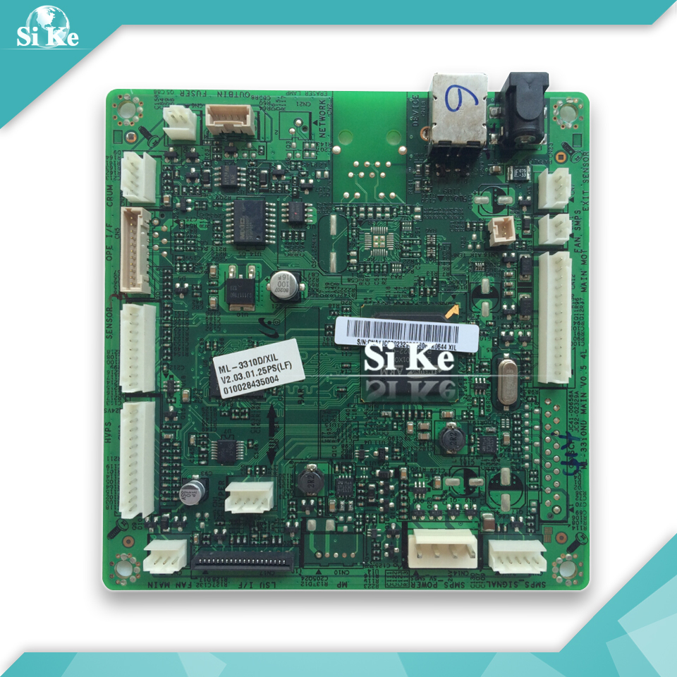 Free shipping Mainboard For Samsung ML-3310D ML3310 ML-3310 3310D 3310 Formatter Board Main board on sale 100% test main board for samsung ml 2160 ml 2161 ml 2165 ml 2160 2161 2165 formatter board mainboard on sale