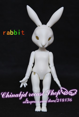 Rabbit 1 6 Body Model Baby Dolls Eyes Resin Pet Figures Gift For Birthday Xmas BJD