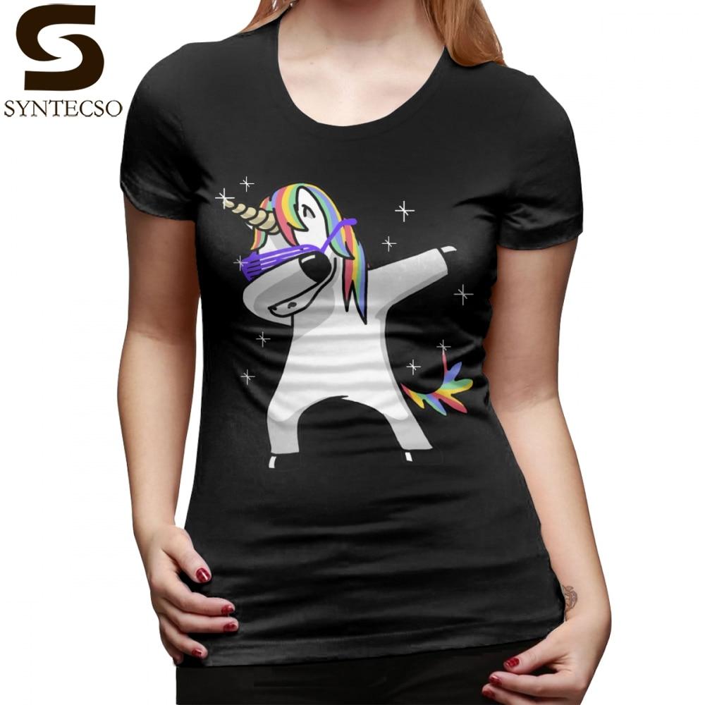 Unicorn Dab T-Shirt Dabbing Unicorn Shirt Dab Hip Hop Funny Magic T Shirt Short Sleeve O Neck Women tshirt Gray Ladies Tee Shirt