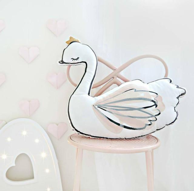 Cisne bailarina travesseiro travesseiro com a música do sono do bebê decoração do quarto almofadas coussin oreiller derramar enfant Presente de Natal do bebê