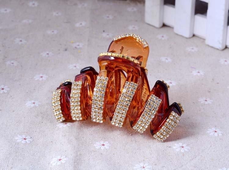 7 cm And 11 cm Claw Rhinestone Hair Claw High Quality Crystal Hair Jewelry Women Acrylic Hair Claw Accessories