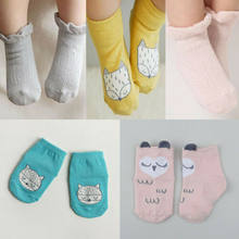 Newborn Baby Cotton Socks Lace Princess Combed Socks for Girls Infant Babe Socks soft crotton(China)