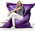 Ywxuege No Filling ! Purple Bag Chair Cover Bean Bags,Beanbag Sofa Cover Bean Bag Covers Only One Seat