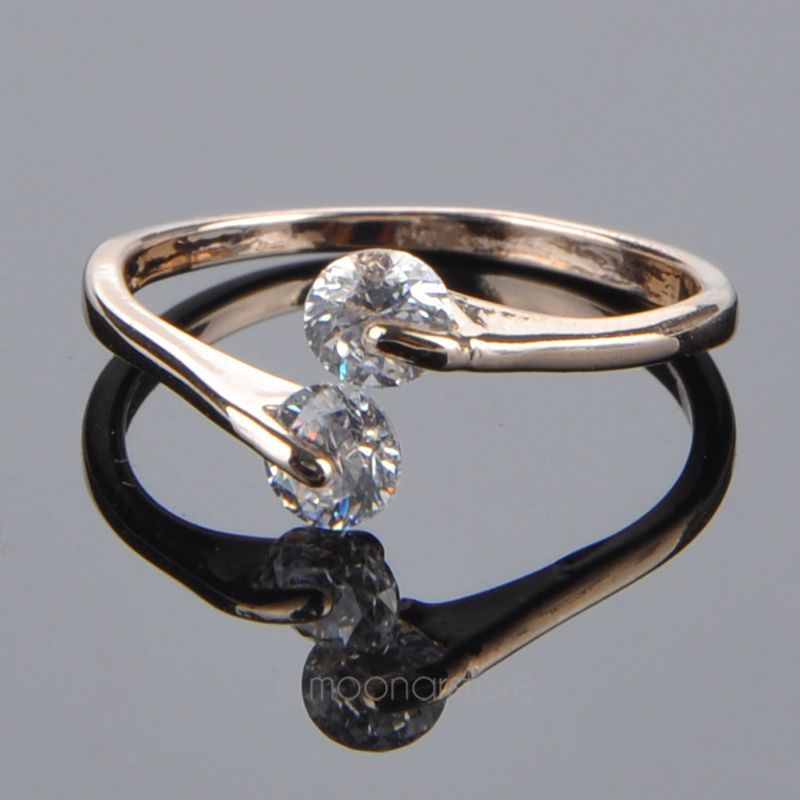 2015 Hot Selling Rose Gold Opening Crystal Engagement Ring For Women