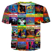 PLstar Cosmos 2018 Summer Mens 90s Magzine Tees 3d  Printed T-shirt Men Goosebumps T shirts Short Sleeve o-neck shirt Tops