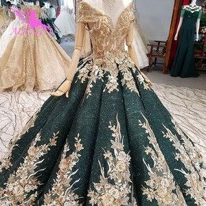 Image 4 - AIJINGYU Wedding Dresses Dubai Sleeve Gowns Bolero Luxury Ivory Long Boho Lace For Sale Sexy Gown engagement Wedding Decorations
