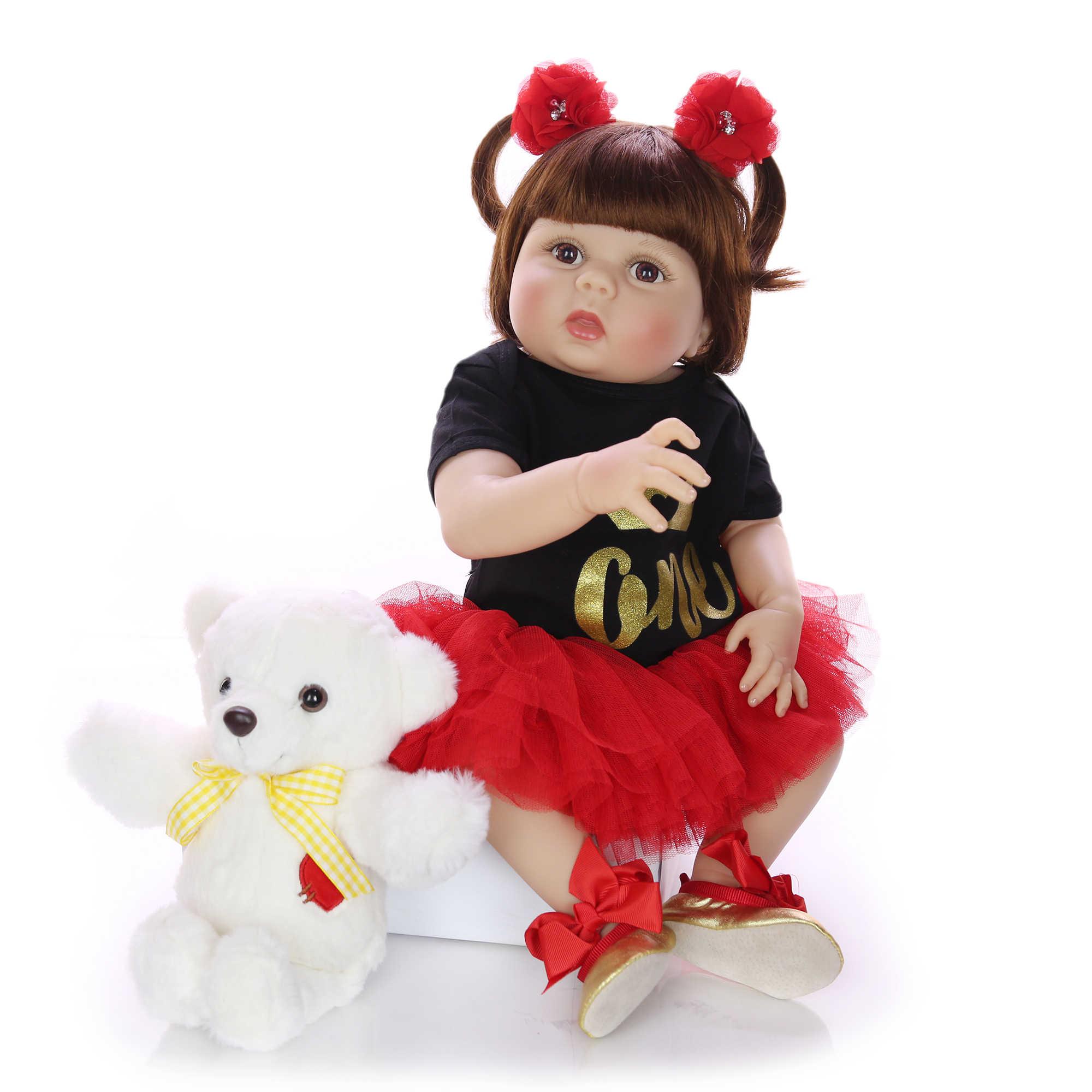 KEIUMI/горячая распродажа, 57 см, полностью силиконовая кукла для новорожденных, как настоящая кукла принцессы для новорожденных девочек, детская игрушка, детские рождественские подарки