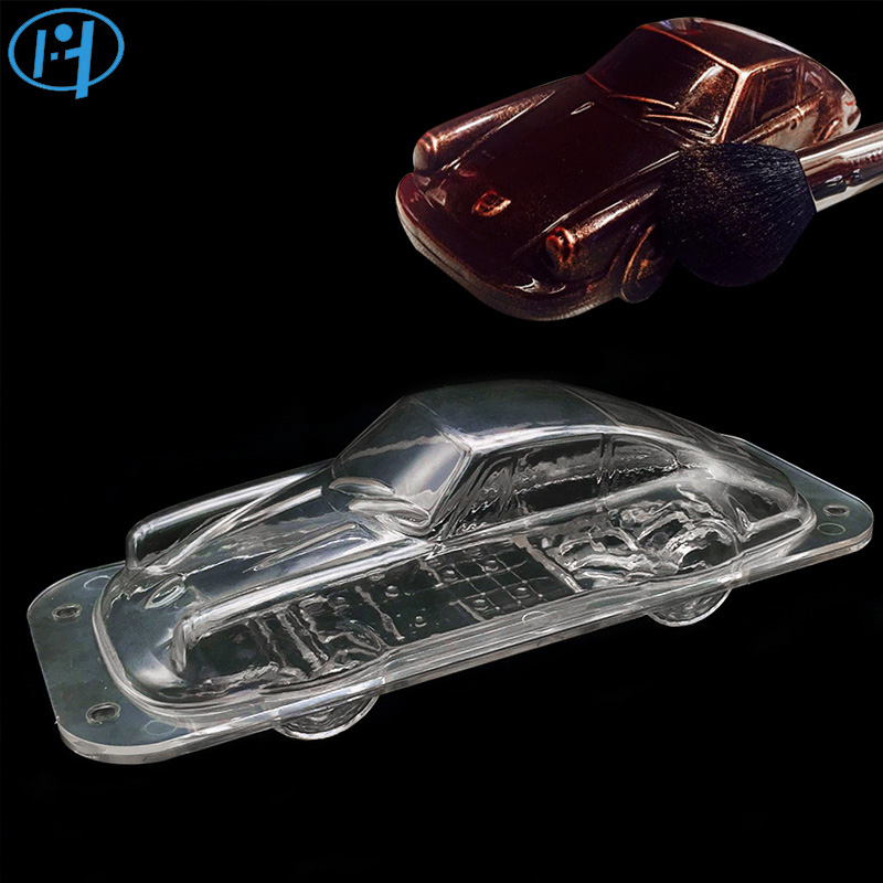 Plastikowe Automobile Chocolate Mold 3D DIY Handmade Sport Car Cake Cukierki Mold Vehicle Chocolate Making Tool Ciasto dekorowanie formy