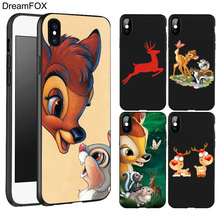 DREAMFOX L334 Bambi And Thumper Black Soft TPU Silicone  Case Cover For Apple iPhone XR XS Max X 8 7 6 6S Plus 5 5S 5G SE