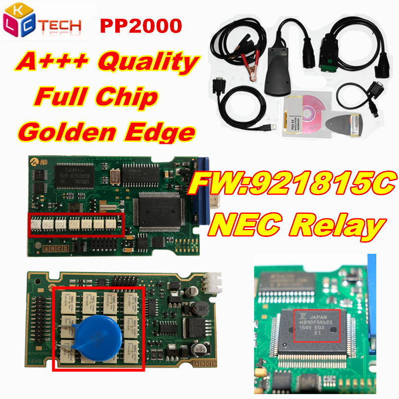 A+ Quality PCB Board Lexia Lexia3 PP2000 Full Chips With Diagbox V7.83 Lexia 3 Firmware No.921815C DiagnosticTool