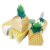 50pcs Tropical Fruit Pineapple Candy Boxes Wedding Favors and Gifts Box Party Supplies Baby Shower Paper Chocolate Boxes Package