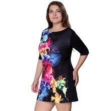 Dress Big Size 6XL Women Dress Print 5XL Dress Black Casual Mini 4XL Party Dresses Vestidos