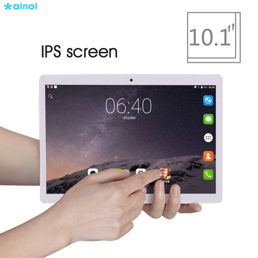 Ainol 8000mAh 10.1 Inch Tablets PC 32G 1280*800 OTG Dual Cameras Tablet Android 7.0 Octa-Core WIFI 3G Metal Tablets US/EU/AU/UK 10 1 inch tablet pc octa core android 7 0 2gb 32gb 1280 800 dual cameras wifi bluetooth black color function tablets gps otg dhl