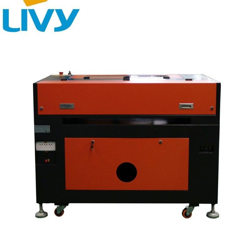 Aletler'ten Ahşap Yönlendiriciler'de Küçük boyutlu çalışma masası 700*500mm lazer gravür CO2 lazer oyma ve kesme makinesi 60 watt EFR lazer tüp title=