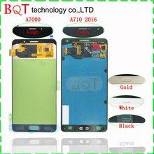 Mejor calidad a7 lcd para samsung galaxy a7 a7000 a7100 a710 (2016) Pantalla LCD con Pantalla Táctil Digitalizador Asamblea