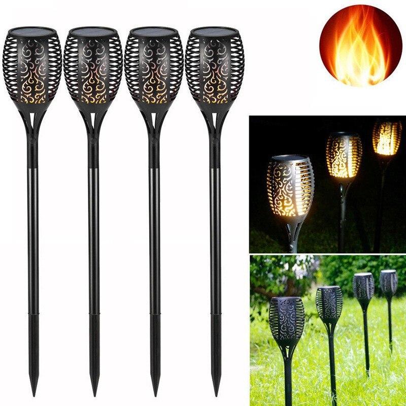4pcs/lot Solar Powered LED Light Motion Sensor Outdoor Garden Security Lamp Flam Landscape Waterproof Night Self-motion Lighting