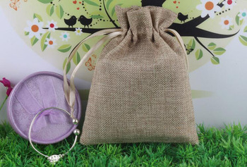 20*30 50pcs Jute Drawstring Sacks gift bags with jewelry/Accessories/Cosmetic/wedding/christmas Linen pouch Packaging Bag