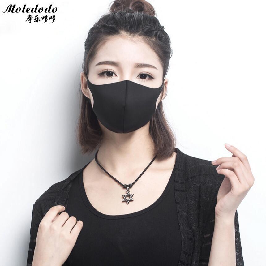 Moledodo 1 UNID Máscara de Boca Negra Adultos Anti Haze Máscara de - Cuidado de la salud