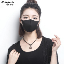 Moledodo 1PC Svart munmaske Vuxen Anti Haze Svampmaske Mode stil Anti-Stoft Windproof Mouth-Muffle Flu Face mask