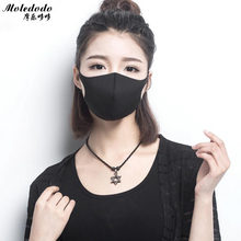 Moledodo 1 PC Hitam Mulut Masker Dewasa Anti Kabut Sponge Masker Fashion Gaya Anti-Debu Windproof Mulut-muffle flu Wajah Topeng(China)