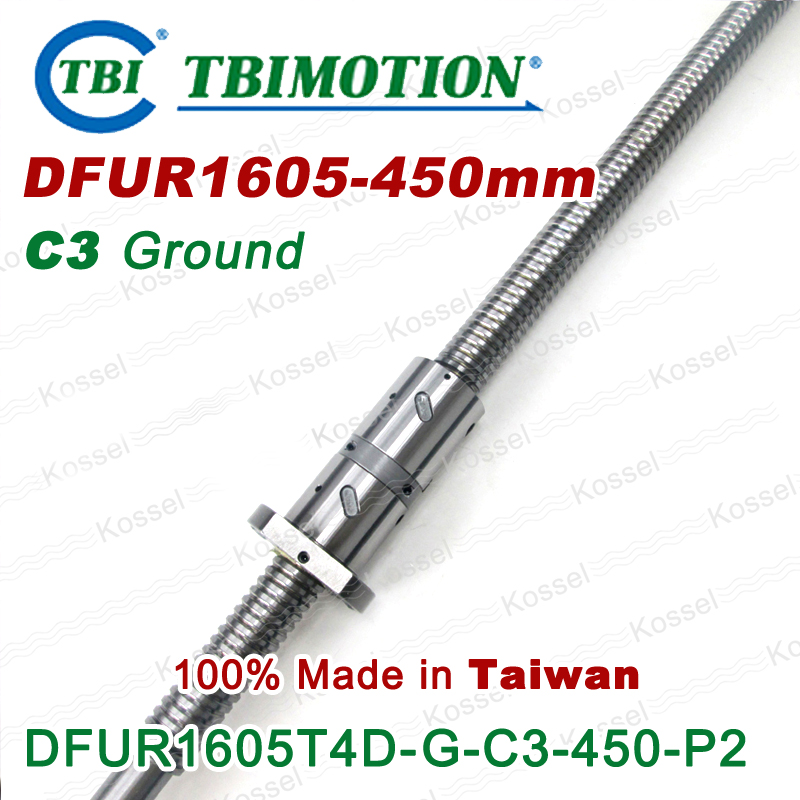 TBI 1605 C3 450mm ballscrews with DFU1605 ball nut + end machined for high precision CNC kit DFU set Custom горелка tbi sb 360 blackesg 3 м