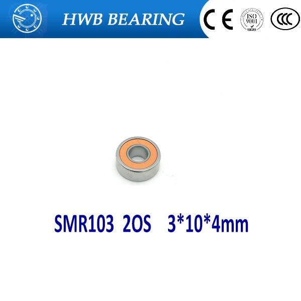 купить Free Shipping 1PC  3x10x4 SMR103 2OS Hybrid Ceramic Stainless Lube Dry Fishing Reel Bearing SMR103C 2OS A7 LD SMR103-2RS дешево