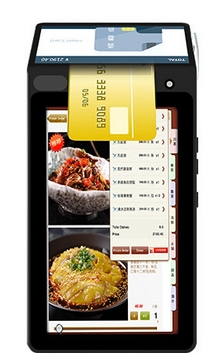 Restaurant Dual Lcd Android 3G NFC QR Code RFID GPRS Touch Screen WiFi BluetoothTF Card Payment POS Terminal