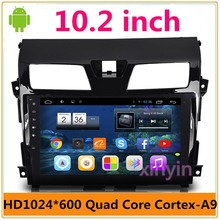 10.2 inch Quad Core Android 6.0 Car DVD player For Nissan/Teana/Altima Car Radio GPS Navigation Build-in WiFi Bluetooth MAP