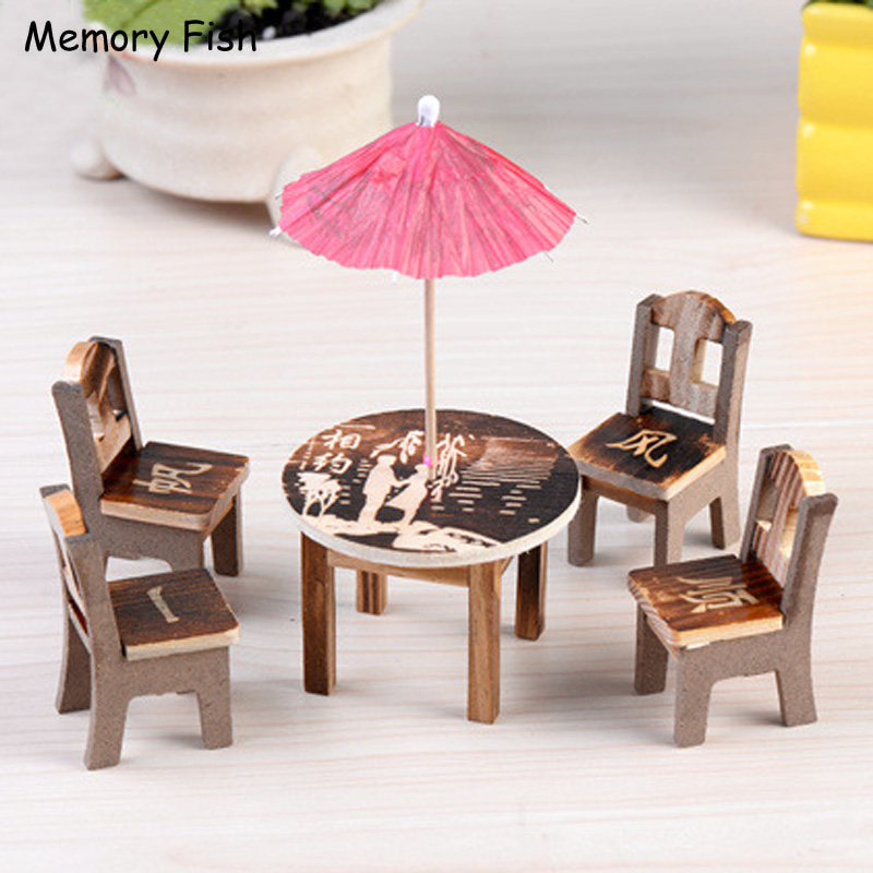 Toys & Hobbies New Dollhouse Miniature Furniture Desk+laptop+chair Model Landscape Sand Model Toy As Effectively As A Fairy Does