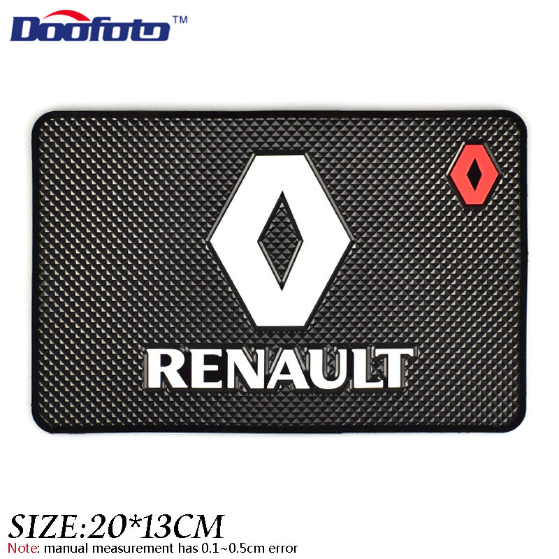 Doofoto Auto Car Styling Mat Case For Renault Megane 2 3 Duster Logan Clio Laguna 2 Captur Interior Logo Accessories Car Styling 2 x car door light ghost shadow welcome light logo projector emblem for renault megane 2 duster logan clio laguna 2 koleos