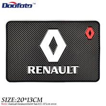 цена на Doofoto Auto Car Styling Mat Case For Renault Megane 2 3 Duster Logan Clio Laguna 2 Captur Interior Logo Accessories Car Styling