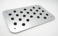 Car Styling Auto Aluminum Floor Carpet Mat Pad Plate Pedal Foot Rest Set For ASX LANCER