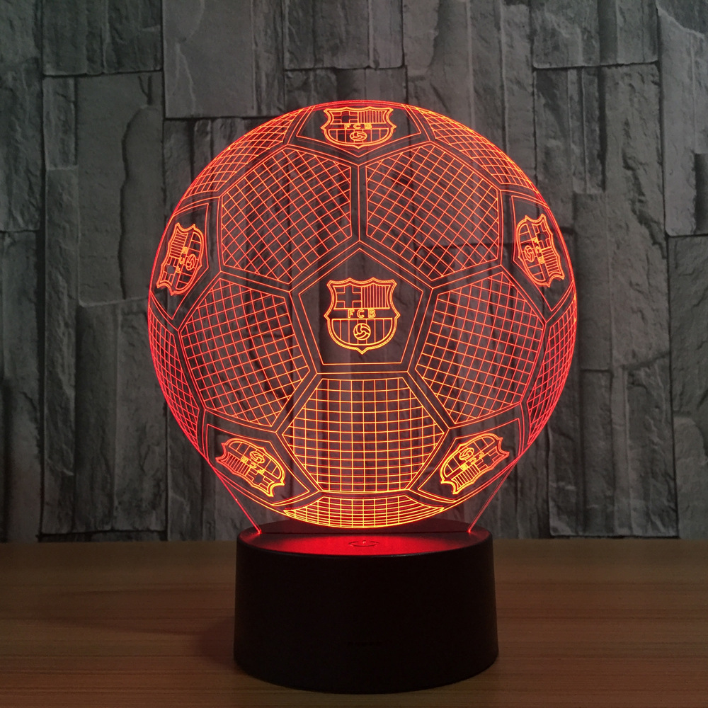Soccer 3D Light Football Club LED Touch Lamp 7 Colors Changing Nightlight Bedside Decoration Lamp Kids Fan Party Birthday Gift 24v 12 5a 150 w switch power supply driver switching voltage transformer for led strip ac 220v input to dc 24v tool