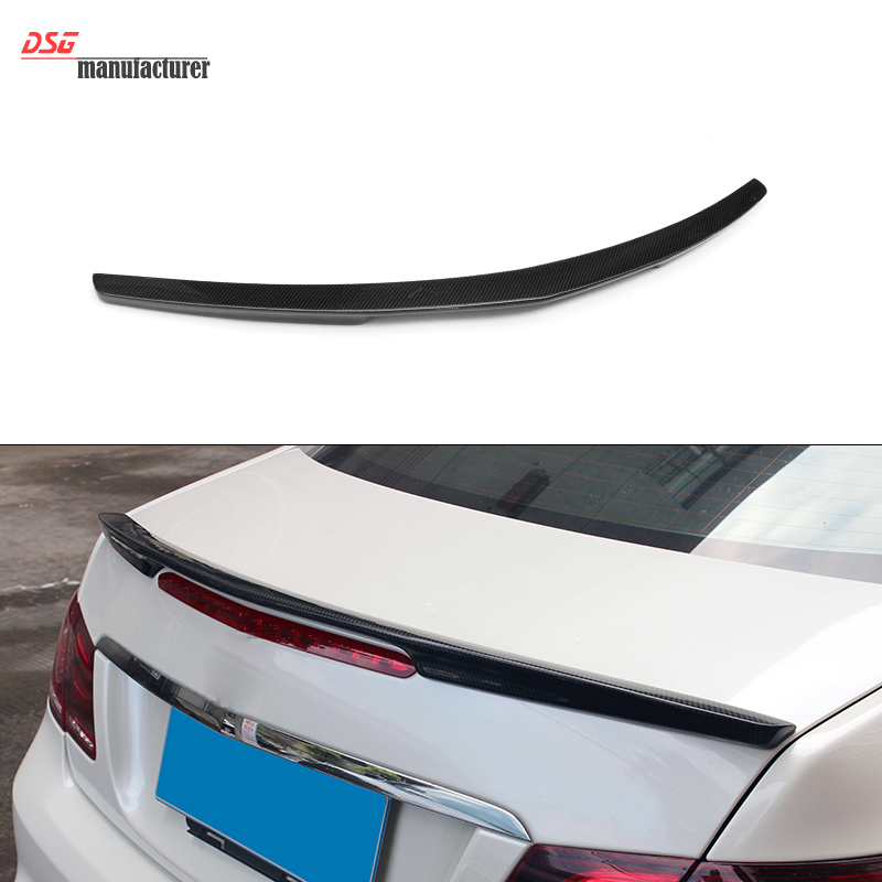 цена Mercedes W207 Carbon Fiber Rear Trunk Spoiler Add-on for Mercedes W207 2010 + Rear Spoiler Wing