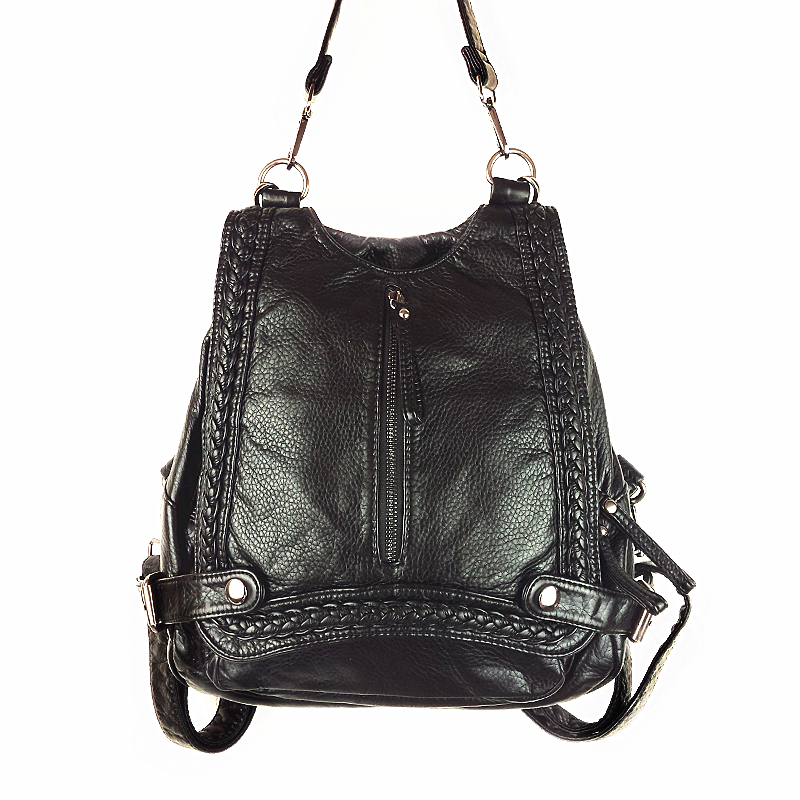 все цены на new korean Women leather backpack Mochil Feminina Duan Function bag bagpack mochila escolar School Bags for Teenagers онлайн