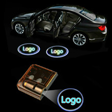 JURUS Wireless Car Projector Led Car Door Light Logo Ghost Shadow Laser Welcome Light For Ford Emblem Interior Light Car-styling
