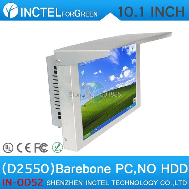 Cheap Barebone Driving Test System All in One PC with Intel Atom D2550 Processor 10 inch Touch Screen