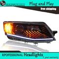 A&T Car Styling for Skoda Octavia Headlights 2015 New LED Headlight DRL Lens Double Beam H7 HID Xenon bi xenon lens