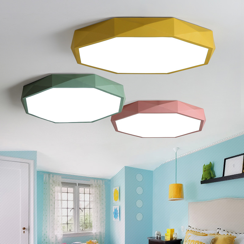Ceiling Lights Ceiling Lights & Fans Independent Nordic Ceiling Lights Modern Simple Macaron Colorful Ironware Foyer Kids Room Lovely Warm Ceiling Lamp Led Lighting Fixture The Latest Fashion