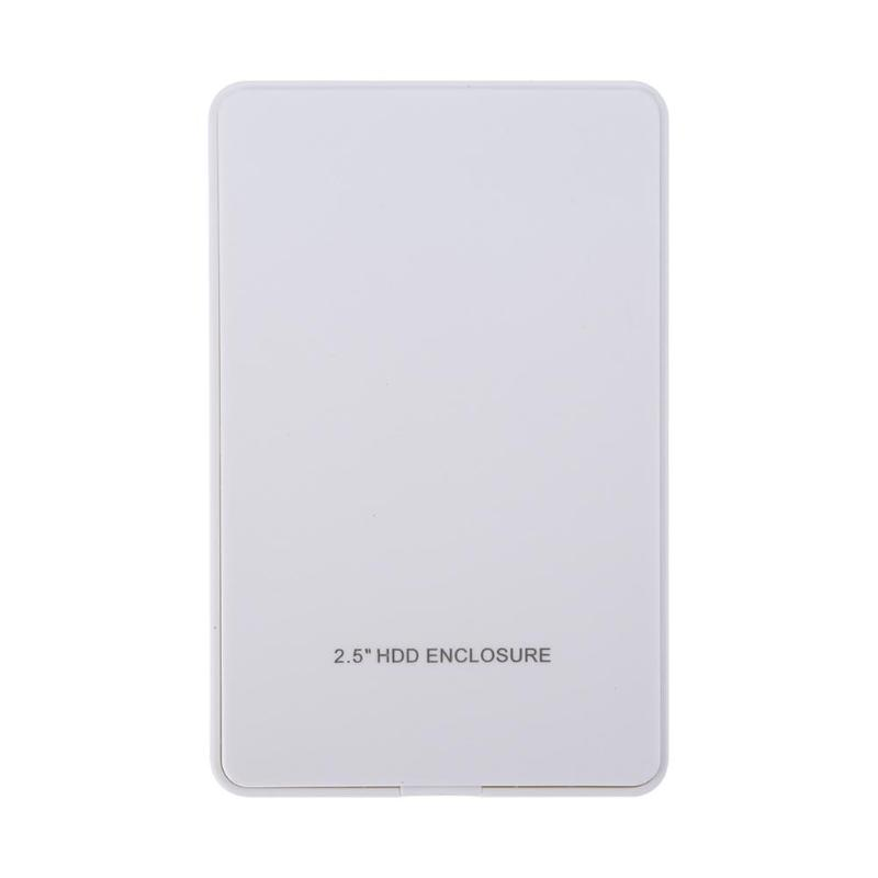 VKTECH 2.5in IDE Hard Disk Drive Enclosure USB 2.0 Highspeed 480M/S External HDD Case Box White Laptop Parts