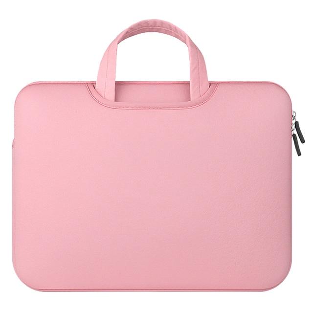 ded53832960a6 Kollu macbook çantası Notebook Çantası Dizüstü bilgisayar Modeli 3 Pembe  Çanta