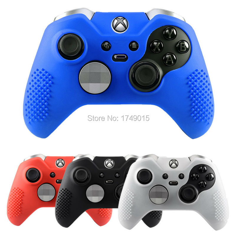 finest selection f9764 2a018 US $1.7 5% OFF|IVYUEEN New Studded Anti slip Silicone Rubber Cover Skin  Case for XBox One Elite Controller with 2 Thumbsticks Caps Grips-in Cases  from ...