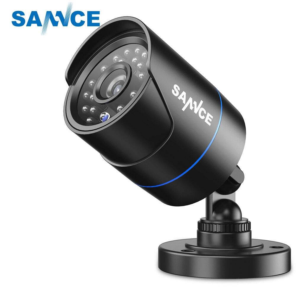 SANNCE Surveillance analogique Caméra HD 1MP 720 p 3.6mm Intempéries IP66 IR Cut Vision Nocturne caméra vidéo pour la vidéo surveillance