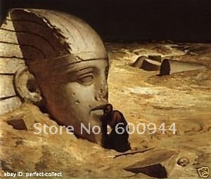 Free shipping 100% handpainted Art Oil Painting Repro Questioner of the Sphinx