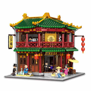 XINGBAO 01021 Chinese Building City MOC Series The Toon Tea House Set Building Blocks Bricks Kids Toys Model Kit Birthday Gifts - DISCOUNT ITEM  30% OFF All Category